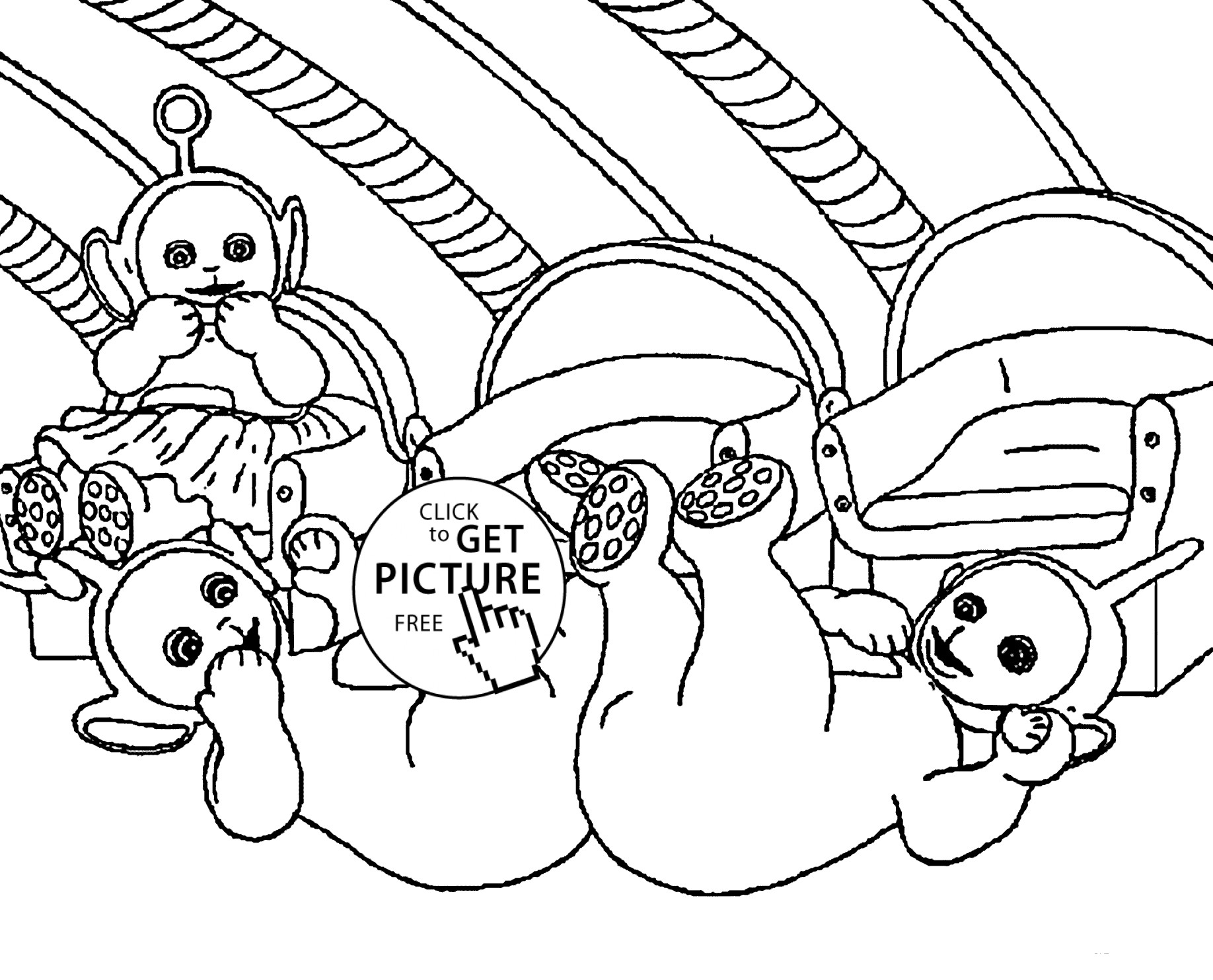 1836x1483 Learn Colours For Children With Teletubbies Colouring Pages