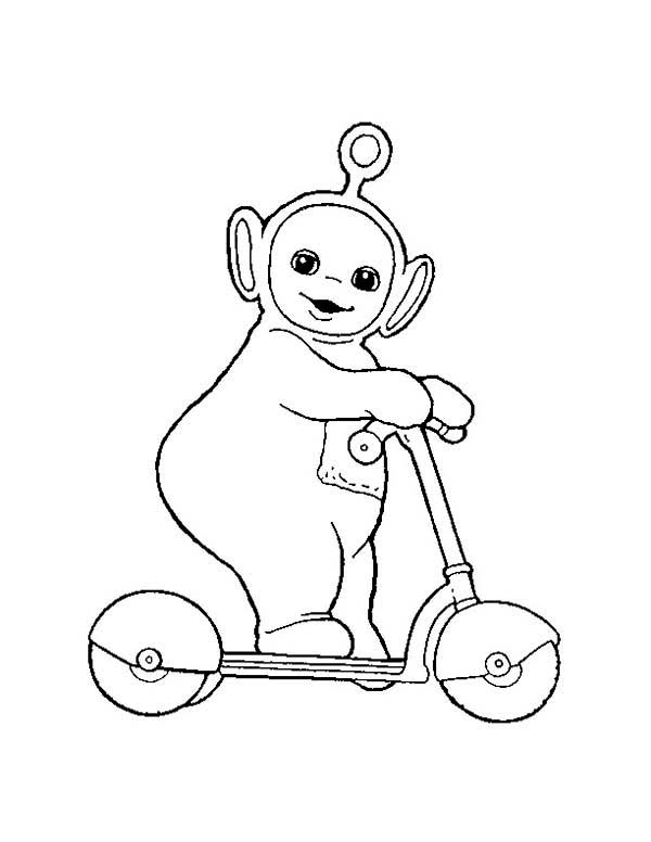 600x776 Po Play With Scooter In The Teletubbies Coloring Page Color Luna
