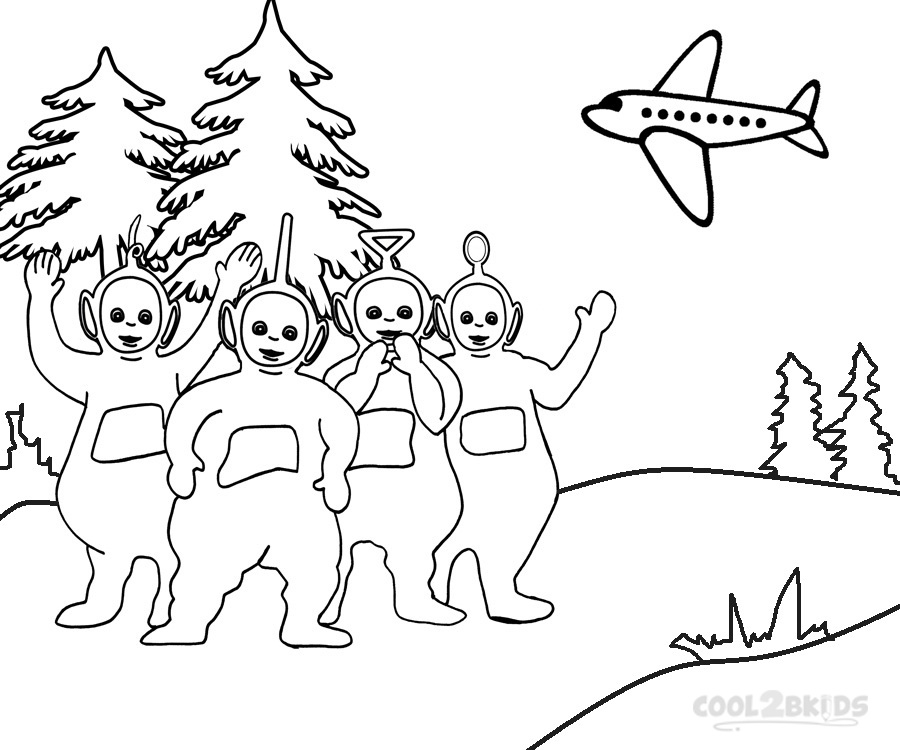 900x750 Printable Teletubbies Coloring Pages For Kids