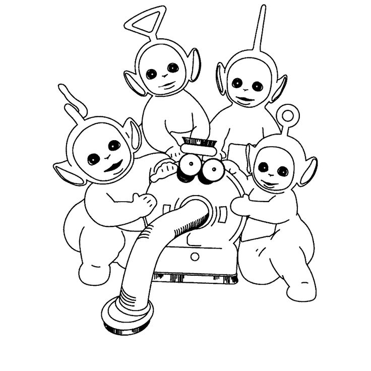 Teletubbies Dipsy Coloring Pages