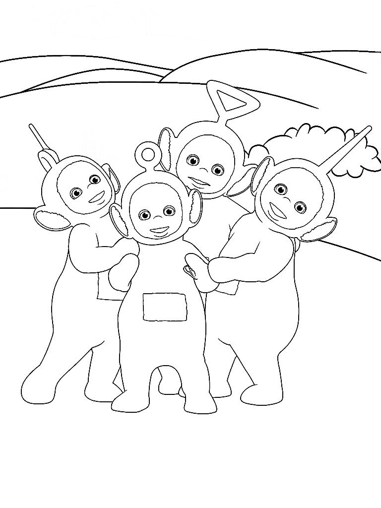 Teletubbies Dipsy Coloring Pages At GetDrawings
