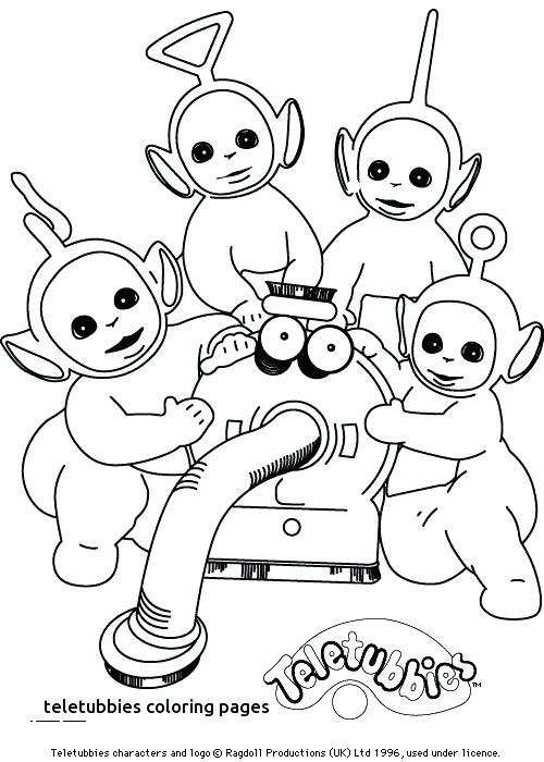 500x700 Teletubbies Coloring Pages Coloring Page For Kids Is Hiding