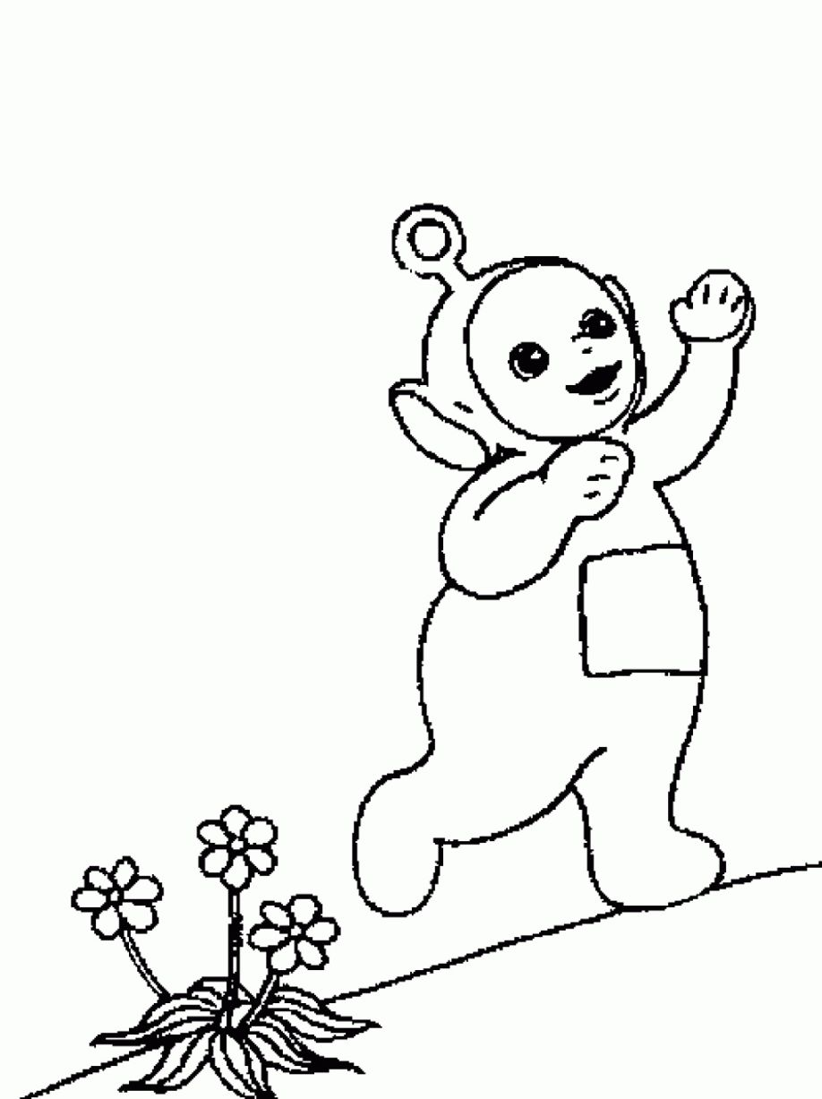 Teletubbies Po Coloring Pages at