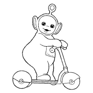 300x300 Po Is Hiding From The Other Teletubbies Coloring Page Po Is
