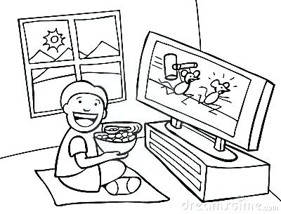400x305 Tv Coloring Page For Color Colouring Pages Page Treehouse Tv