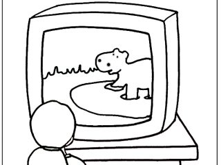 320x240 Tv Coloring Page Kids Watching Tv Coloring Pages Cowboys Coloring