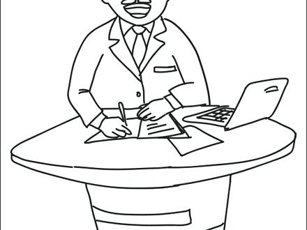 440x330 Television Coloring Page