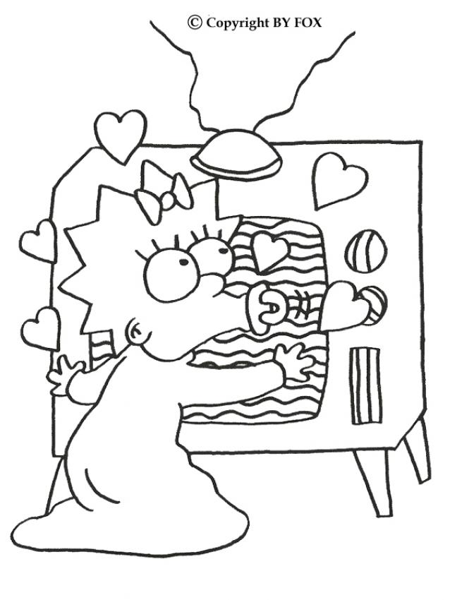 638x850 Maggie And The Tv Coloring Pages