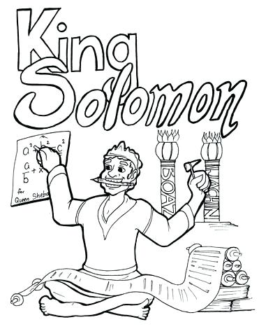 371x480 King Solomon Builds The Temple Coloring Page Coloring Page