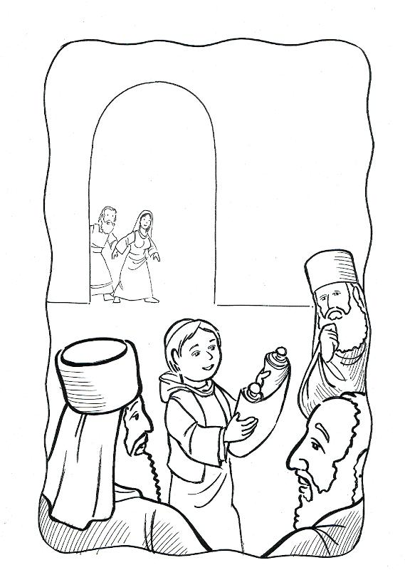 569x800 Jesus At The Temple Coloring Page Boy In The Temple Coloring Page
