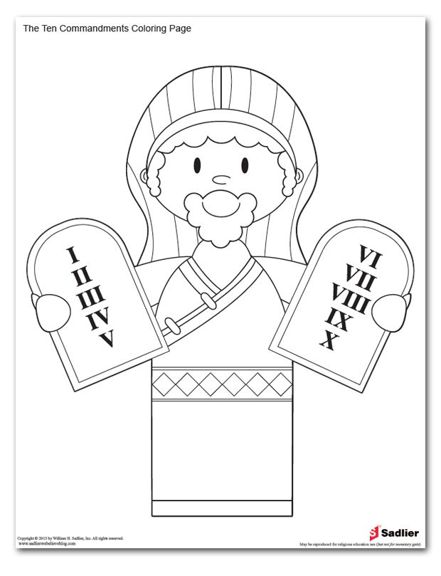 Ten Commandments Coloring Pages at GetDrawings.com | Free for ...