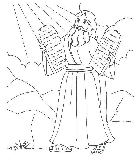 474x560 Ten Commandment Coloring Pages Commandments And The For Toddlers