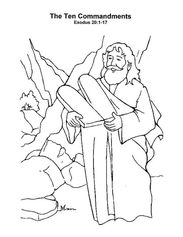 600x776 Commandments Coloring Pages Coloring Pages For Free