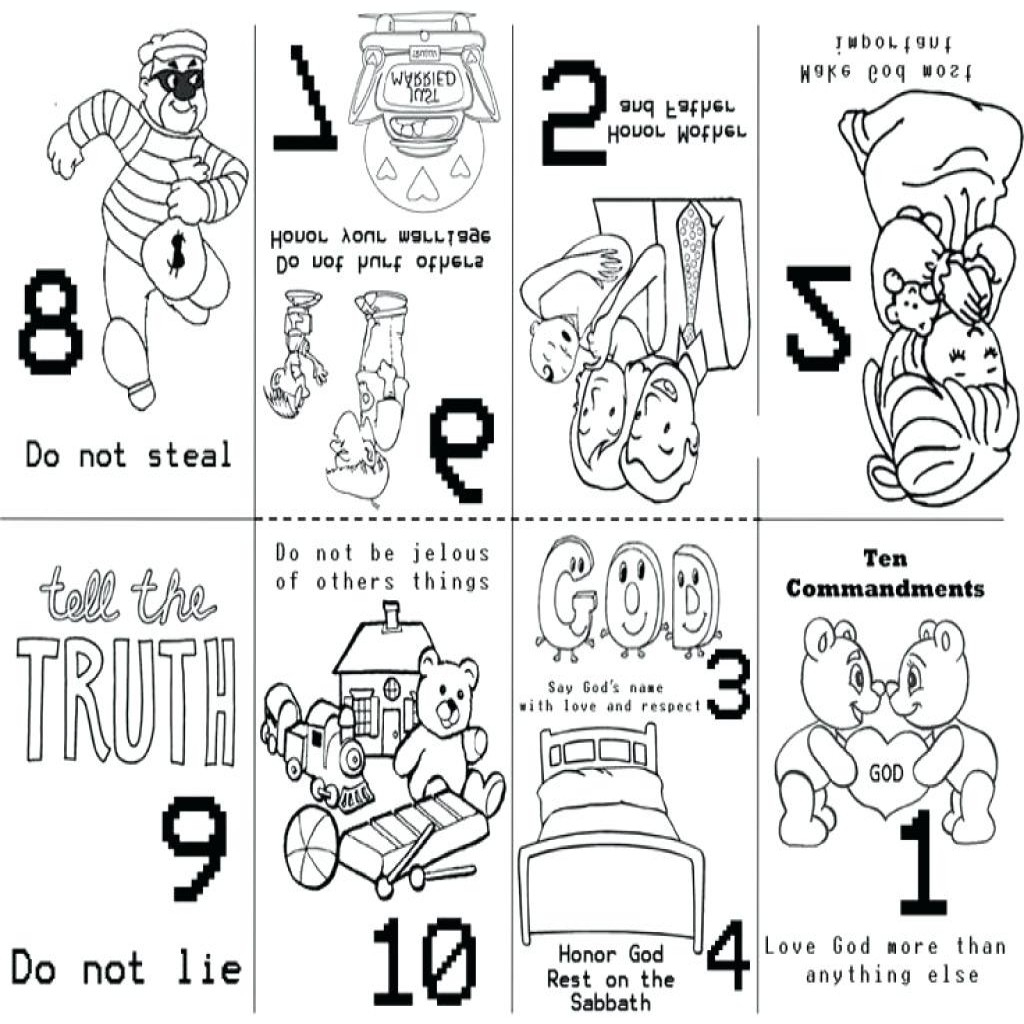 1024x1024 Free Printable Ten Commandments Coloring Pages Free
