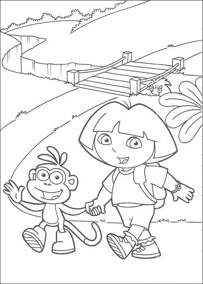 660x924 Best Dora Explore Coloring Pages Images On Dora