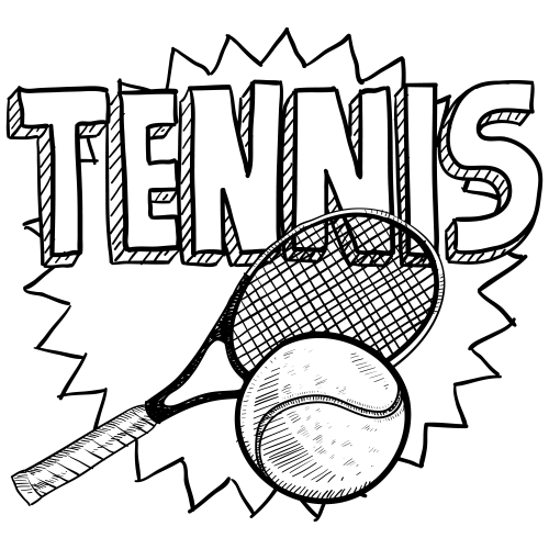 500x500 Tennis Coloring Page