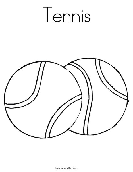 468x605 Tennis Coloring Page