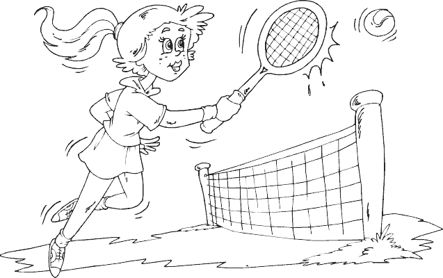 637x400 Tennis Coloring Pages
