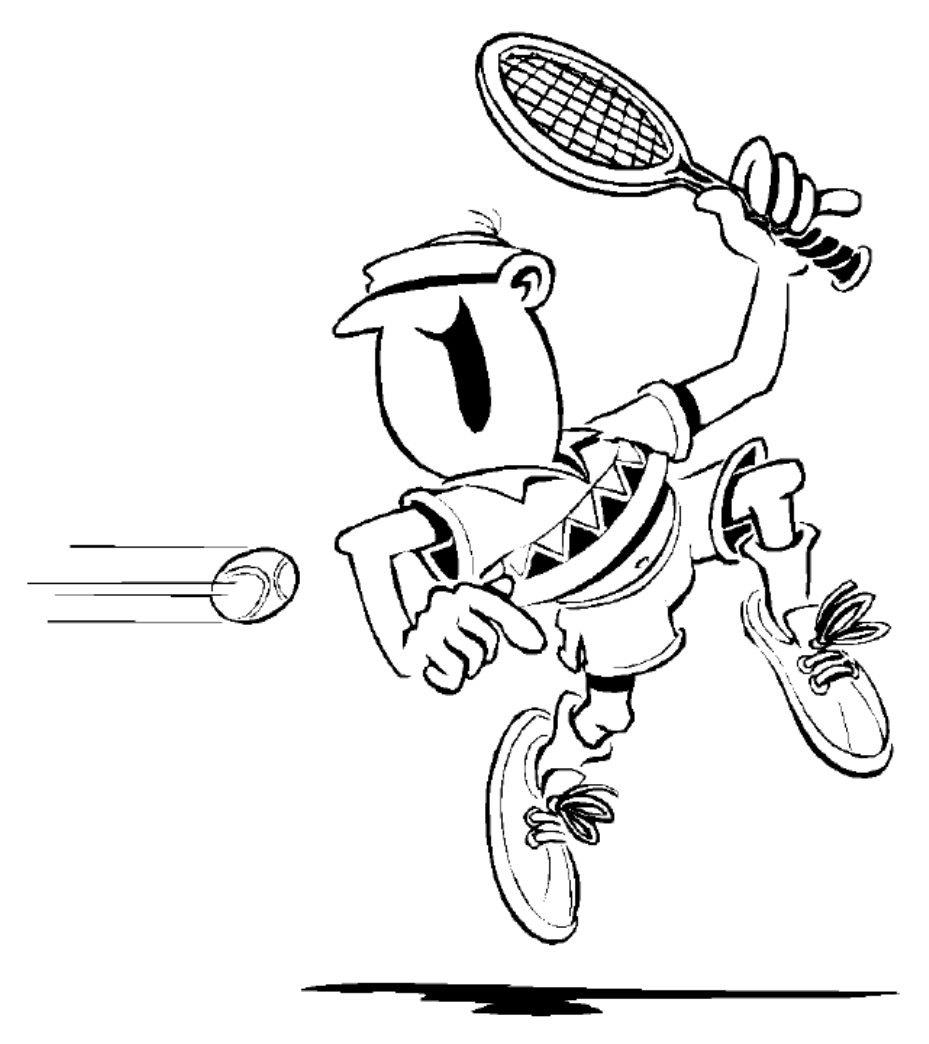 929x1044 Tennis Coloring Pages For Childrens Printable General Ball Rackets