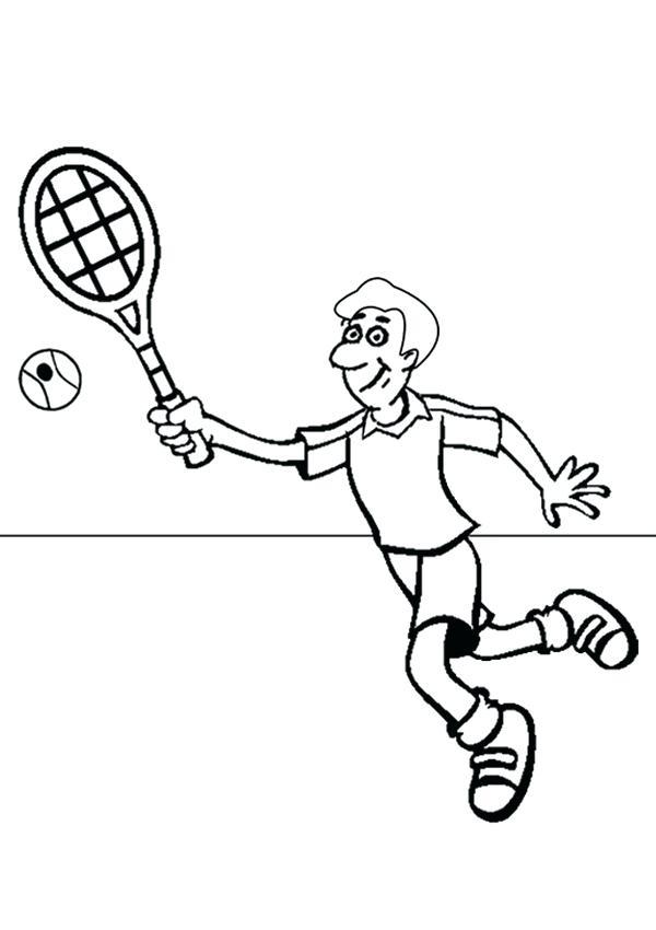 600x850 Tennis Coloring Pages Tennis Coloring Pages Download Tennis