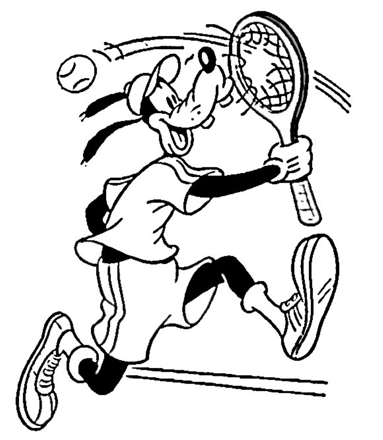 1224x1409 Disney Tennis Coloring Pages