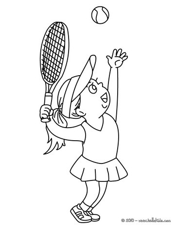 364x470 Woman Tennis Player Hitting A Serve Coloring Pages