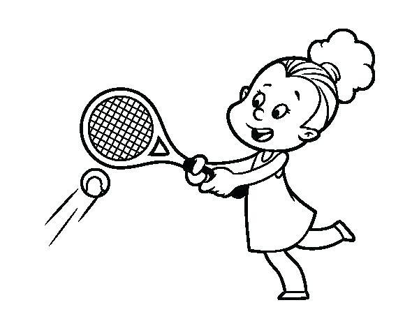 600x470 Badminton Coloring Pages