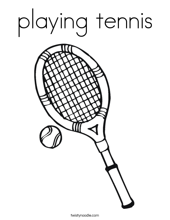685x886 Playing Tennis Coloring Page