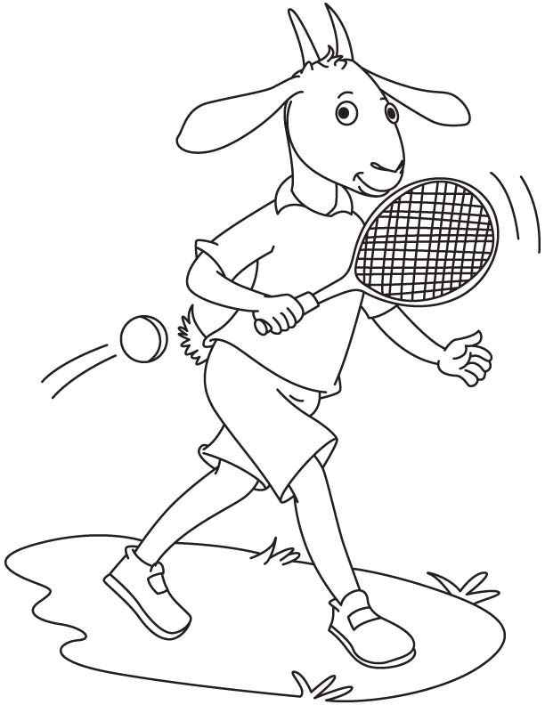 612x792 Goat Playing Tennis Coloring Page Tennis Tennis