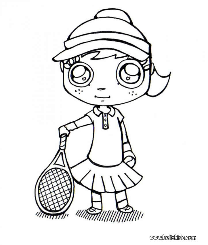 723x850 Tennis Coloring Pages