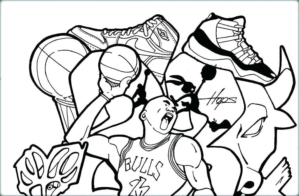 Tennis Court Coloring Pages