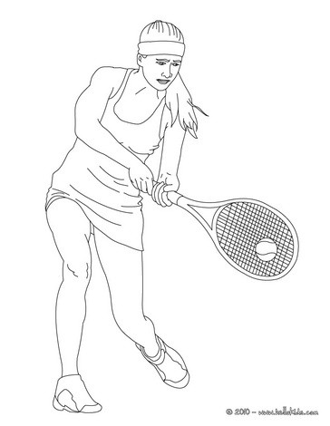 364x470 Woman Tennis Player Performing A Double Handed Backhand Grip