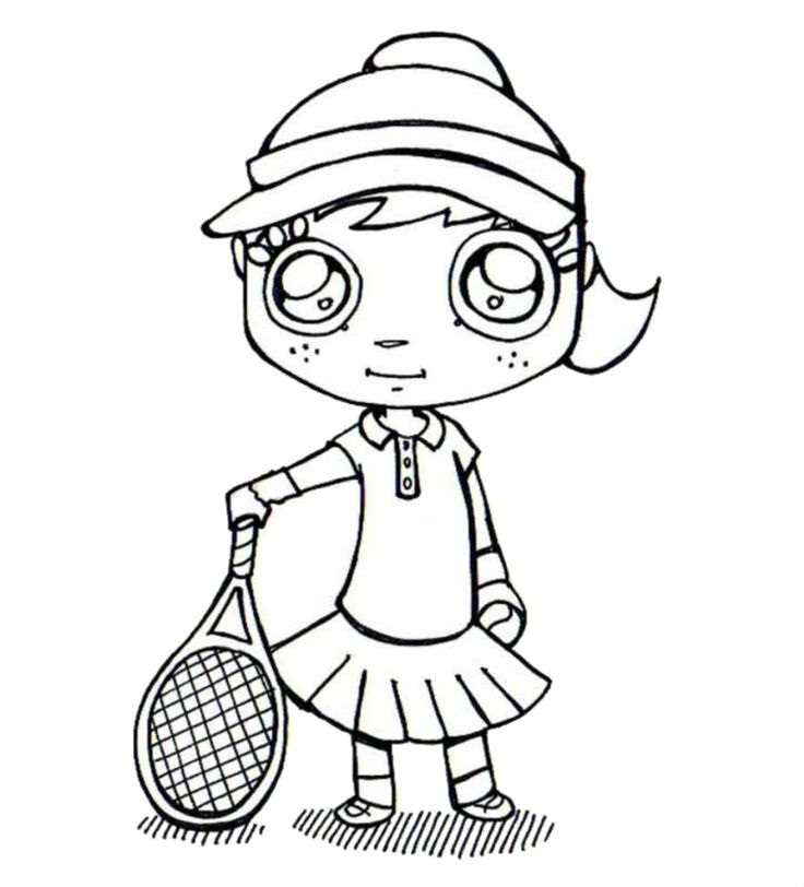 Tennis Racket Coloring Page
