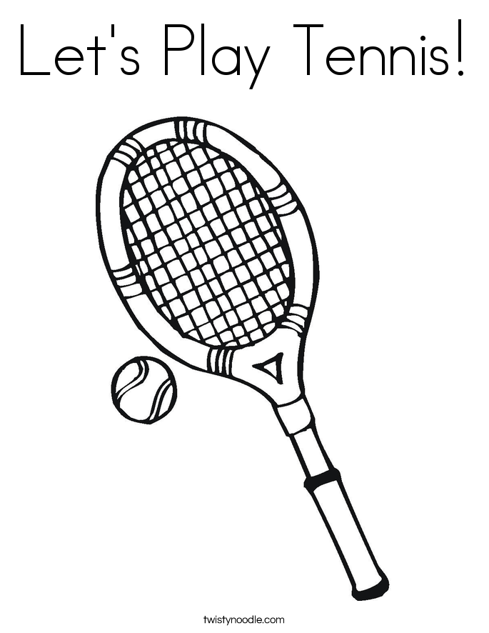 685x886 Tennis Coloring Page