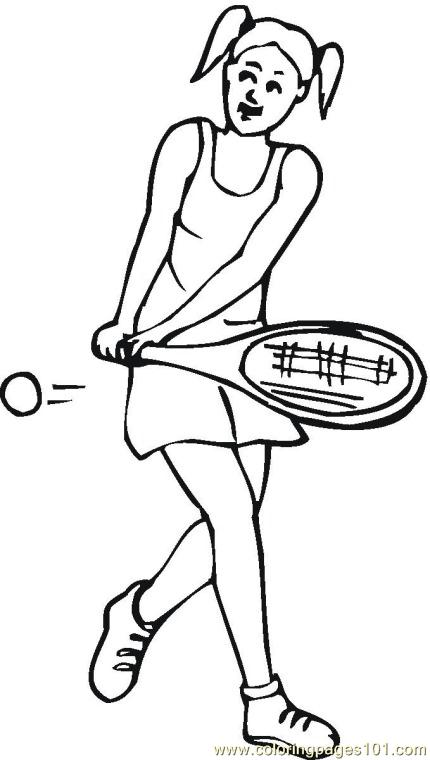 430x760 Tennis Coloring Pages Com Coloring Page