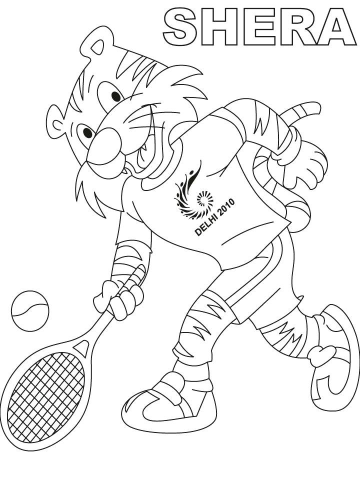 720x954 Tennis Coloring Pages Boots Having Fun Playing Tennis Tennis