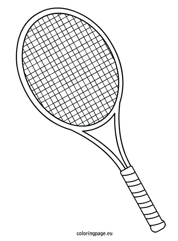 595x804 Tennis Coloring Pages Tennis Racket Coloring Page Free Coloring