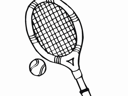 440x330 Tennis Coloring Pages Tennis Racket Coloring Pages