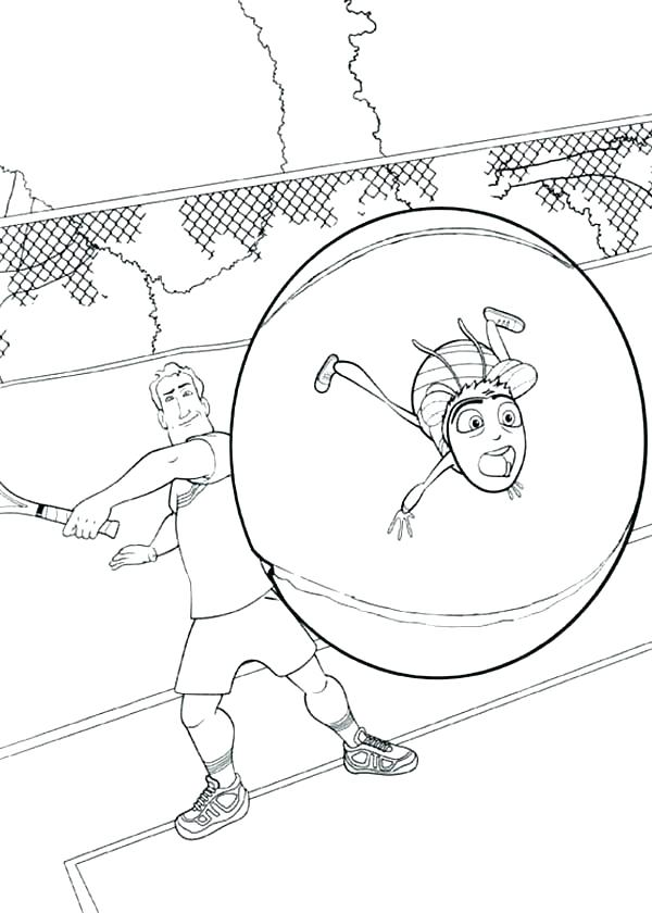 600x840 Tennis Coloring Pages Tom And Playing Tennis Coloring Page