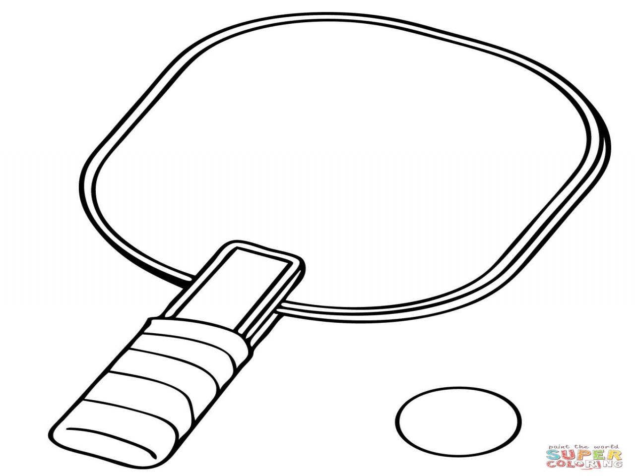 1280x960 Tennis Racket Coloring And Ball Pages