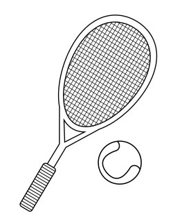 250x324 Tennis Racket Coloring Page