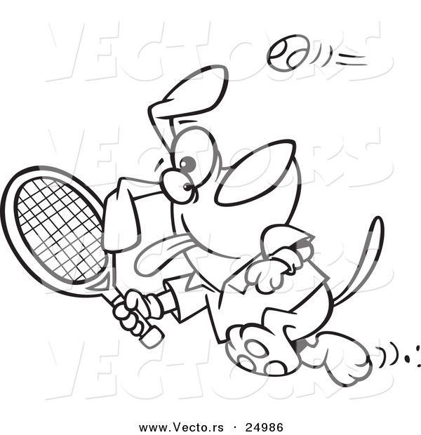 600x620 Tennis Racket Coloring Page Eco Club