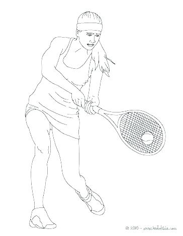 364x470 Coloring Page Sport Coloring Page Tennis Free Coloring Tennis