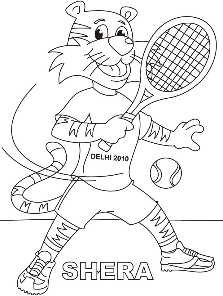 720x954 Tennis Racket Coloring Pages Img