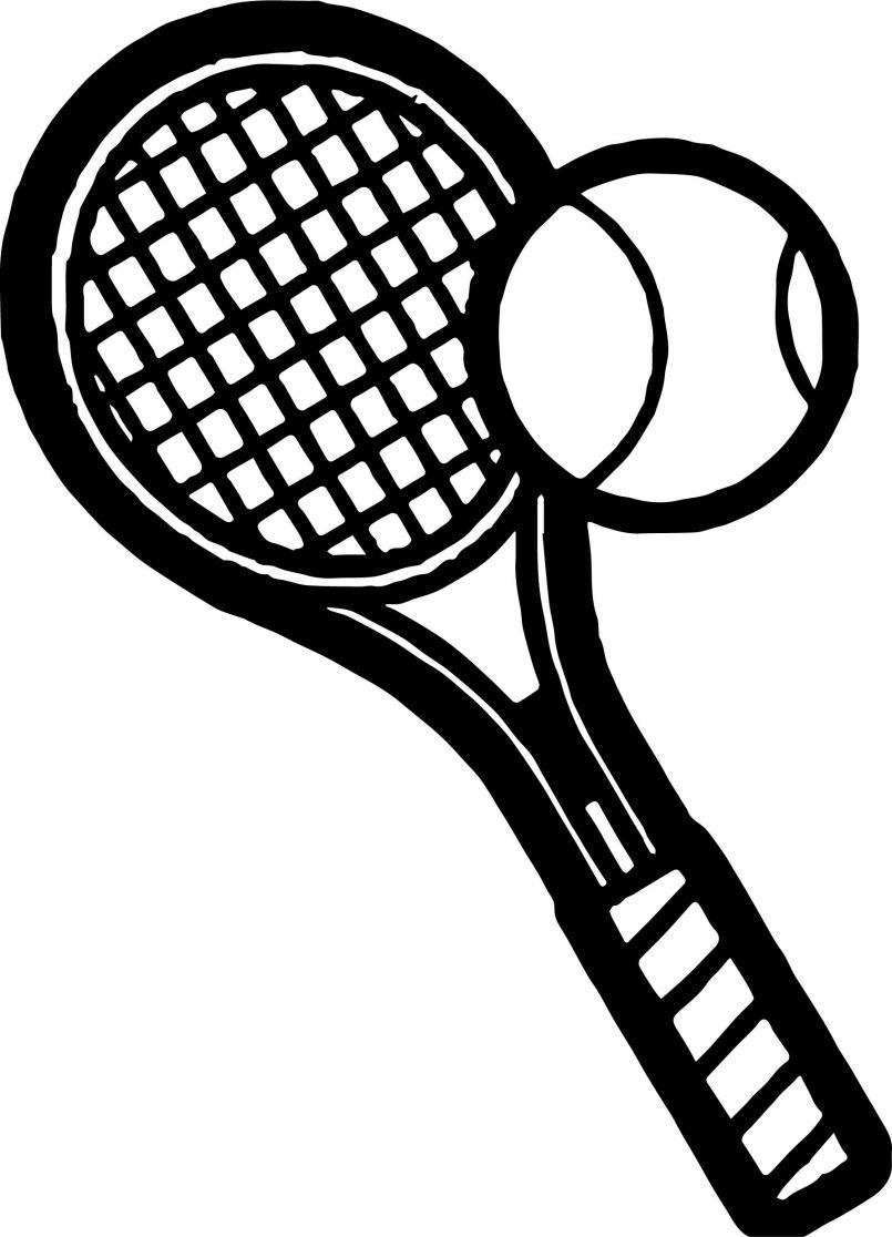 805x1116 Dorable Tennis Racket Coloring Pages Sketch