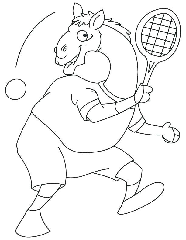 612x792 Tennis Ball Printable Coloring Pages Goofy Cartoon Camel Playing