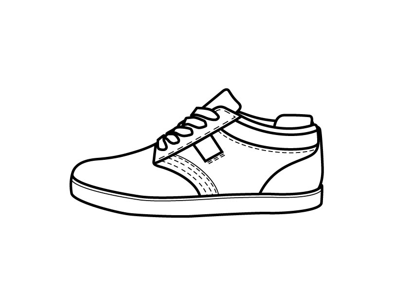 Tennis Shoe Coloring Page