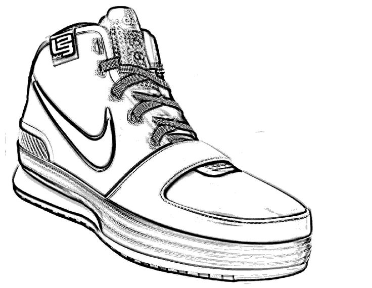736x570 Best Shoes Coloring Page Images On Coloring, Nike