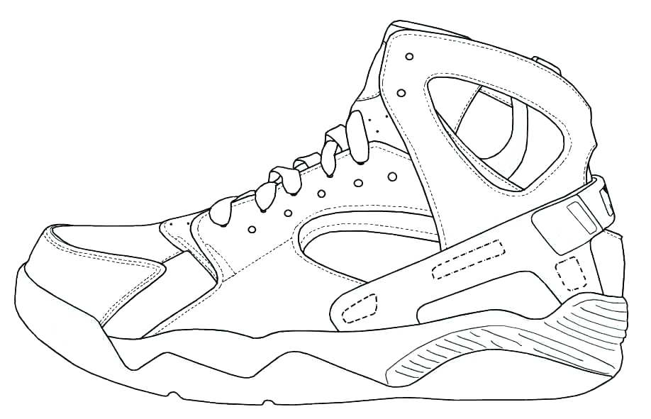 918x591 Exciting Jordan Shoe Coloring Pages