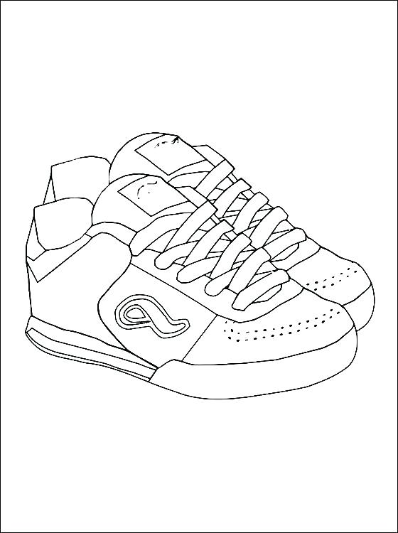 560x750 Nike Shoes Coloring Pages